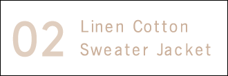 Linen Cotton Sweater Jacket