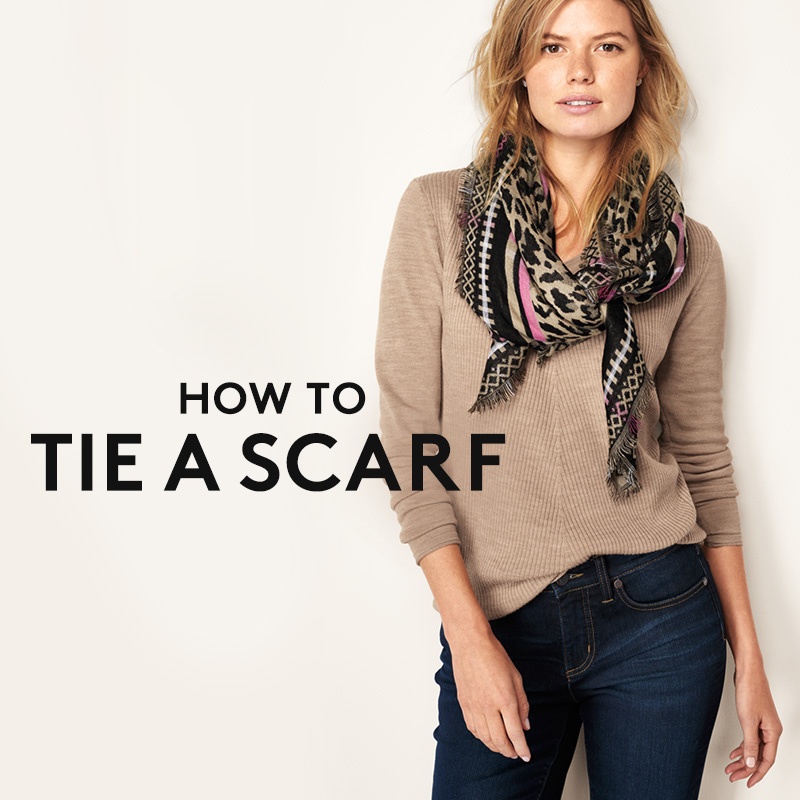 【HOW TO TIE A SCARF】